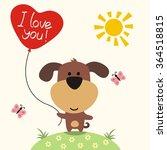 happy valentine's day. cute... | Shutterstock .eps vector #364518815