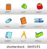 school icon set   Shutterstock .eps vector #3645191
