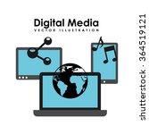 digital media design    Shutterstock .eps vector #364519121