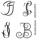 pairs of initial to customize... | Shutterstock .eps vector #364521095
