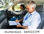 handsome senior driving... | Shutterstock . vector #364522199