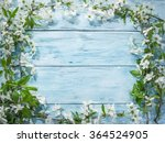 blooming cherry twig over old... | Shutterstock . vector #364524905