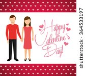 happy valentines day design  | Shutterstock .eps vector #364533197