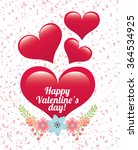 happy valentines day design  | Shutterstock .eps vector #364534925