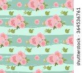 floral peony retro vintage... | Shutterstock .eps vector #364536761