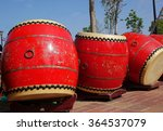 Traditional Arge Chinese Drums...