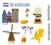 Netherlands Flat Icon Set...
