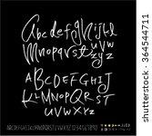 hand drawn alphabet   number  ... | Shutterstock .eps vector #364544711