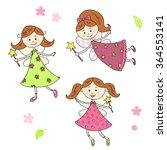 vector fairies collection.... | Shutterstock .eps vector #364553141