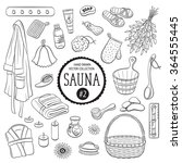 sauna accessories sketch. hand... | Shutterstock .eps vector #364555445