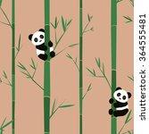 cute baby pandas seamless... | Shutterstock .eps vector #364555481
