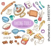 baking items collection in... | Shutterstock .eps vector #364555739