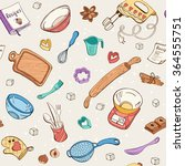 baking doodle background.... | Shutterstock .eps vector #364555751