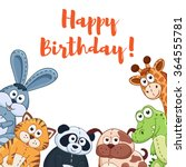 Happy Birthday Card With Cute...