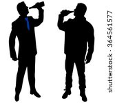 two guys are drinking together | Shutterstock .eps vector #364561577