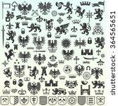 silhouettes of heraldic design ...