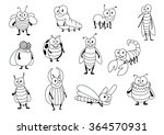 funny cartoon outline colorless ...