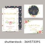 light pink blue gold invitation ... | Shutterstock .eps vector #364573391