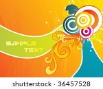 abstract funky artwork with... | Shutterstock .eps vector #36457528