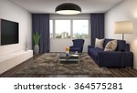 interior with sofa. 3d... | Shutterstock . vector #364575281