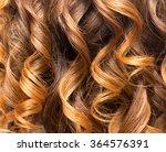 wavy hair as a background.... | Shutterstock . vector #364576391