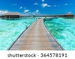 beautiful beach and tropical... | Shutterstock . vector #364578191