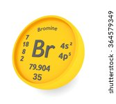 bromine chemical element | Shutterstock . vector #364579349
