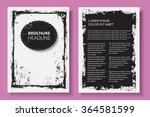 grunge brochure design.flyer...   Shutterstock .eps vector #364581599