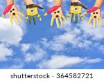 hand painted child. hand paint... | Shutterstock . vector #364582721