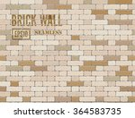 vector grunge old brick wall... | Shutterstock .eps vector #364583735
