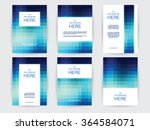 set of brochures in rectangle... | Shutterstock .eps vector #364584071