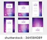 set of brochures in rectangle... | Shutterstock .eps vector #364584089