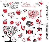 set for valentine's day | Shutterstock .eps vector #364585664
