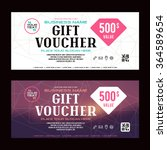 gift voucher template. printed... | Shutterstock .eps vector #364589654