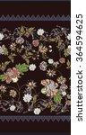 floral ornament border. textile ...