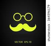 flat long shadow hipster retro... | Shutterstock .eps vector #364596179