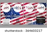 set of modern gift voucher... | Shutterstock .eps vector #364603217