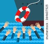 helping business survive.... | Shutterstock .eps vector #364607525