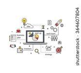modern line illustration of... | Shutterstock .eps vector #364607804