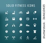 set of 25 universal fitness... | Shutterstock .eps vector #364610435