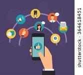 social network vector concept... | Shutterstock .eps vector #364618451
