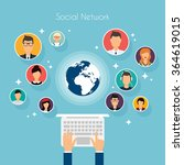 social network vector concept....   Shutterstock .eps vector #364619015