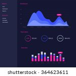 infographic dashboard template... | Shutterstock .eps vector #364623611