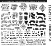 retro vintage premium quality... | Shutterstock .eps vector #364624955