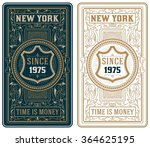 retro cards set | Shutterstock .eps vector #364625195