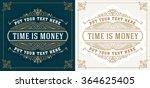 retro logo template | Shutterstock .eps vector #364625405