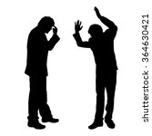 vector silhouette of people who ... | Shutterstock .eps vector #364630421