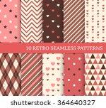 ten different seamless patterns ...   Shutterstock .eps vector #364640327