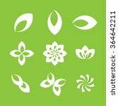 ecology leaves and symbols  | Shutterstock .eps vector #364642211