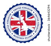 united kingdom map and flag in... | Shutterstock .eps vector #364643294